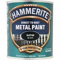 HAMMERITE DIRECT TO RUST METAL PAINT SATIN BLACK 750ML 5092829 TOP ITEM