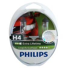 2 Stück Philips H4 Lampe ECO 4x Longlife 60/55 Watt 12 Volt 55W P43t-38 Birne