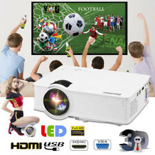 Portable 5000 Lumen 1080P 3D Home LED Projector Multimedia HDMI/USB/SD/AV/VGA UK