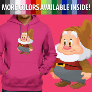 Unisex Pullover Hoodie Sweater Hooded Gift Print Snow White Seven Dwarfs Happy