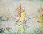 The Yellow Sail Venice Paul Signac Cityscape Painting Print Canvas Home Decor SM