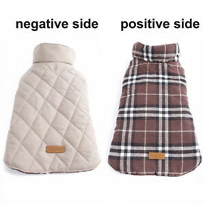 Waterproof Winter Pet Dog Coat Jacket Warm Clothes Small Large Bulldog Apparel