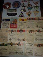 VINTAGE Boy Scouts / Girl Scouts Patches Merit Cards Cub Scouts 1956 1957