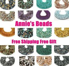 Natural AAA Round Gemstone Loose Beads 4mm 6mm 8mm 10mm 12mm 7.5'' 15.5