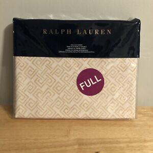 Ralph Lauren FULL Weston Park Hutchings Cream Flat Sheet $130
