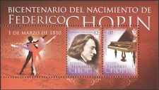 Uruguay 2010 Frederic Chopin/Music/Composers/People/Piano/Ballet 2v m/s (n44900)