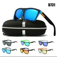 Fashion UV400 Polarized Mens Sunglasses Square Cycling Driving Sun Glasses 2019