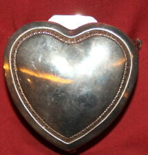 Vintage Ornate Silverplated Footed Heart Shape Box