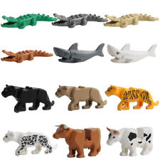 Crocodile Tiger Cow Buildable Model kids Animal Building Block Fit Lego/Decor B9