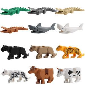 Crocodile Tiger Cow Buildable Model kids Animal Building Block Fit Lego/Decor H