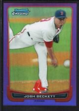 JOSH BECKETT 2012 BOWMAN CHROME #15 PURPLE REFRACTOR RED SOX SP #171/199