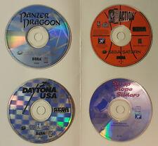 Sega Saturn 4 Game Lot Daytona USA Panzer Dragoon NBA Action Steep Slope Sliders