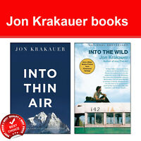 Jon Krakauer Collection 2 Books Set pack Into Thin Air, Into the Wild NEW
