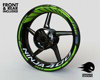 "Wheel Stickers for Kawasaki Ninja 400 Rim Tape Motorcycle Decals Graphics 17"""