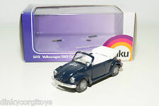 SIKU 2613 VOLKSWAGEN VW 1303 BEETLE KAFER CABRIOLET BLUE MINT BOXED