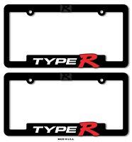 Type-R License Plate Frames Honda Civic Acura Integra 3D Letter TYPE R TYPER