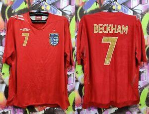 England National Football Team David Beckham #7 Shirt Soccer Jersey Top Mens XXL