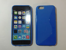 "Custodia cover blue S-line per apple iphone 6 6S 4.7"" silicone tpu blu chiaro"