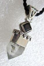 RARITÄT ANHÄNGER echter Herkimer Diamant ONYX 36x13mm 925 Silber