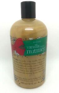 Philosophy Vanilla Bean Nutmeg Shampoo Shower Gel Bubble Bath 16 oz. NEW Sealed