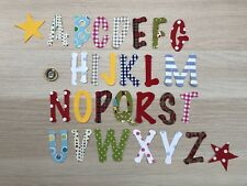 26 Fabric Iron On Letters, Mix and Match Christmas Any Name, Alphabet 🎁 DIY