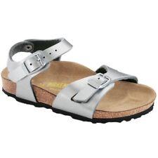 Chaussures métalliques à enfiler en cuir pour fille de 2 à 16 ans