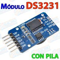 Modulo reloj DS3231 RTC precision + Bateria I2C tiempo real 32k pila - Arduino E