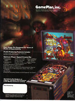 GAMEPLAN Attila the Hun pinball flyer brochure pamphlet. Year 1984-1985. NEW.