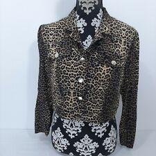 Vintage Menu Brand animal print cropped jacket. Size 12