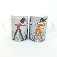 James Sadler Coffee Tea Cup Mug set of 2 Riches of London Fine China