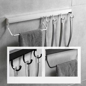 Wall Mounted Kitchen Hanging Rack Pot Pan Organizer Storage Holder Utensils WS