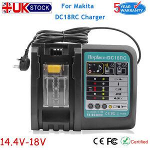 For Makita DC18RC 18V Li-Ion Rapid Battery Charger to LXT BL1850B BL1860B BL1830