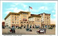 TUCSON, Arizona  AZ   Street Scene  SANTA RITA HOTEL  ca 1920s Postcard