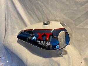 YAMAHA XT TT 500 WHITE  PAINTED STEEL PETROL TANK 1U6,1980 MODEL |Fit For
