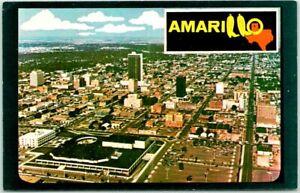 Vintage AMARILLO Texas Postcard Aerial Panorama City View Chrome c1970s Unused