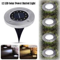 yard outdoor pathway 12 conduit enterré lampe l'énergie solaire feu souterrain