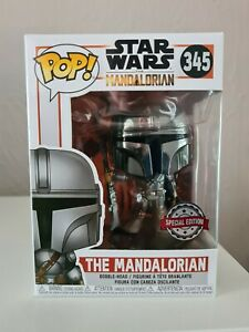 Funko Pop! Star Wars - The Mandalorian Chrome #345