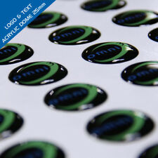 SET OF 100x LOGO PRINTED TROPHY MEDAL INSERTS ANY DESIGN/TEXT ACRYLIC DOMES 25mm