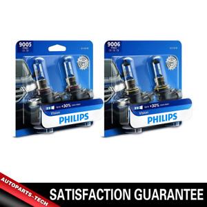 4PCS 9005+9006 Philip Headlight Light Bulb Hi/lo Beam Kit For Audi A6 1995