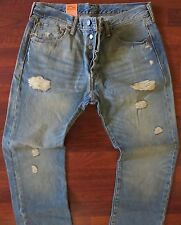 Levi's 501 Straight Leg Jeans Men's Size 40 X 30 Vintage Distressed Wash NEW