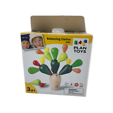 Plan Toys Balancing Cactus Stacking Game Ages 3+ Sustainably Made Wooden 4101