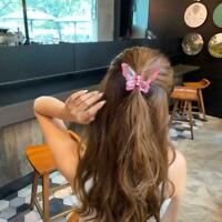 Butterfly Hair Clips Hairpin Women Girls Hair Claw Hairpin Clip Crystal Z6L9