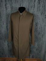Men`s Armani Collezioni Casual Brown Coat Jacket Size 48