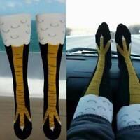 Women Xmas Chicken Foot Socks Leg/Knee Socks 3D Chicken Socks Cartoon Stockings