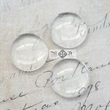 20 x Round Domed 20mm Clear Transparent Glass Cabochons Seals