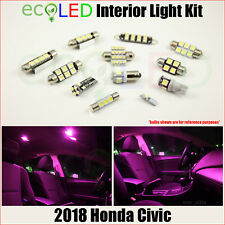 Fits 2018 Honda Civic PINK Interior LED Light Accessories Replacement Kit 8 Bulb