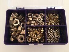 Brass Nuts M4, M5, M6, M8, M10, Brass Hexagon Fullnuts Assorted Box 200 pcs