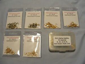 Assorted BUZZER / GRUB Fly Hook packs for Fly Tying Choose from Drop Down Menu
