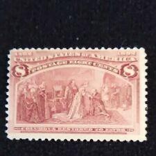 us stamp scott # 236 M/LH