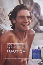 PUBLICITÉ 2002 NAUTICA L'AVENTURE AU COEUR D'UN NOUVEAU PARFUM - ADVERTISING